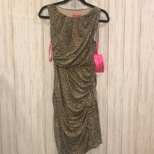 NWT Betsey Johnson Leopard Dress
